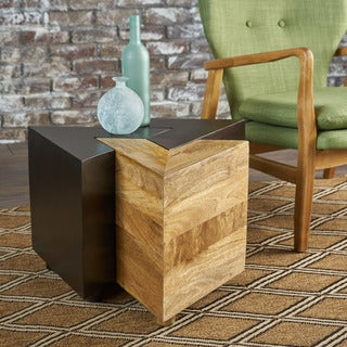 Andor Mango Wood 3-piece End Table Set by Christopher Knight Home