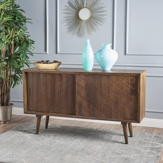 Uriel Mango Wood Sideboard Buffet Cabinet with Sliding Door by Christopher Knight Home