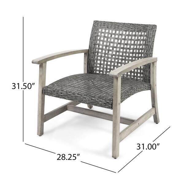 Amazing Shop Hampton Outdoor Mid Century Wicker Club Chair Set Of 2 Bralicious Painted Fabric Chair Ideas Braliciousco