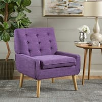 Eilidh Mid Century Fabric Club Chair by Christopher Knight Home