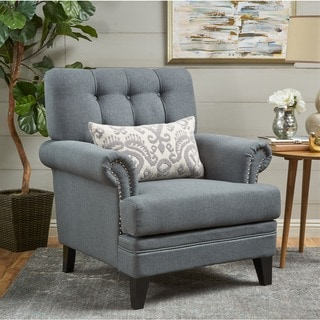 Link to Anthea Fabric Club Chair by Christopher Knight Home Similar Items in Living Room Chairs