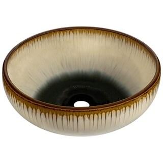 V401 Hand-Thrown Ceramic Vessel Sink