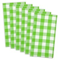 Green Apple Checkered Napkin ( Set of 6)