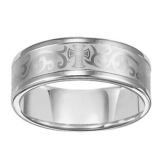 Cambridge 8mm White Tungsten Men's Band (More options available)