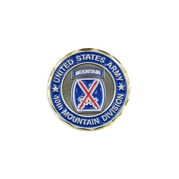 United States Army 10th Mountain Division Double Sided Collectible Challenge Coin