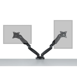 Dual monitor stand  side by side gas spring design