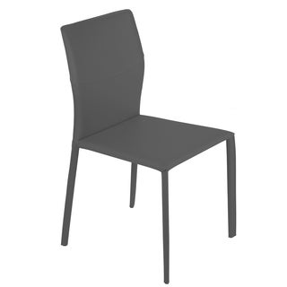 Bellini Modern Living Adele Grey Leather Armless Chairs (Set of 2)