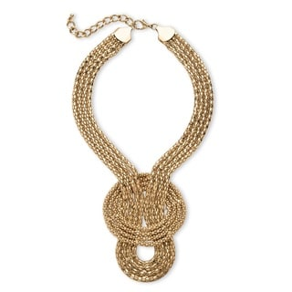 Snake-Link Draping Multi-Strand Rope Necklace in Gold Tone Bold Fashion