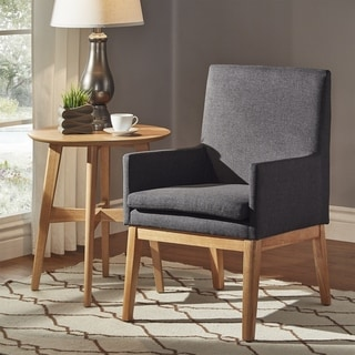 Parker Mid-Century Light Oak Accent Chairs (Set of 2) by iNSPIRE Q Modern