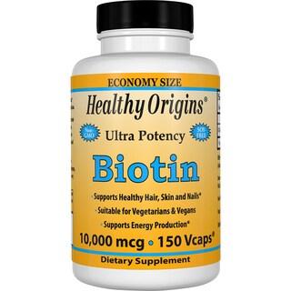 Healthy Origins Biotin 10,000 mcg (150 Veggie Capsules)