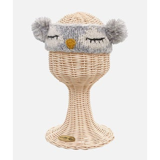 San Diego Hat Company Kids Knit Sleeping Owl Pom Headband-Owl