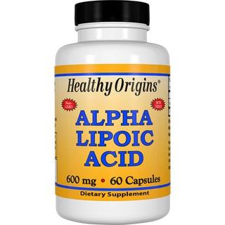 Healthy Origins Alpha Lipoic Acid 600 mg (60 Capsules)