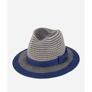 San Diego Hat Company 5-7 Youth Knitted Fedora-Grey