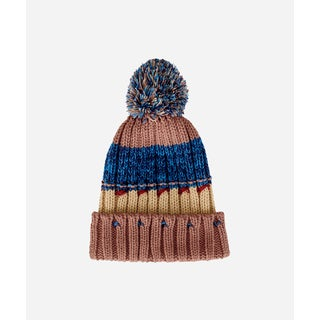 San Diego Hat Company 8-12 Youth Cuffed Beanie W/ Pom-Tan