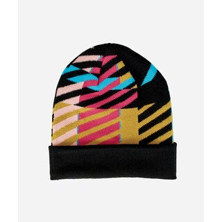 San Diego Hat Company Youth Pattern Beanie W/ Cuff-Black
