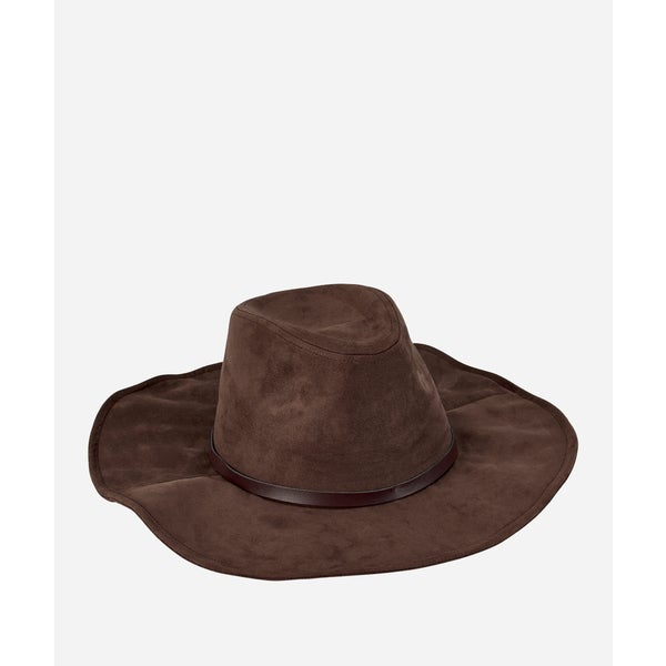 San Diego Hat Company 8-12 Youth Faux Suede Floppy-Brown