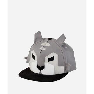 San Diego Hat Company 3-7 Youth Geometric Animal Cap-Wolf