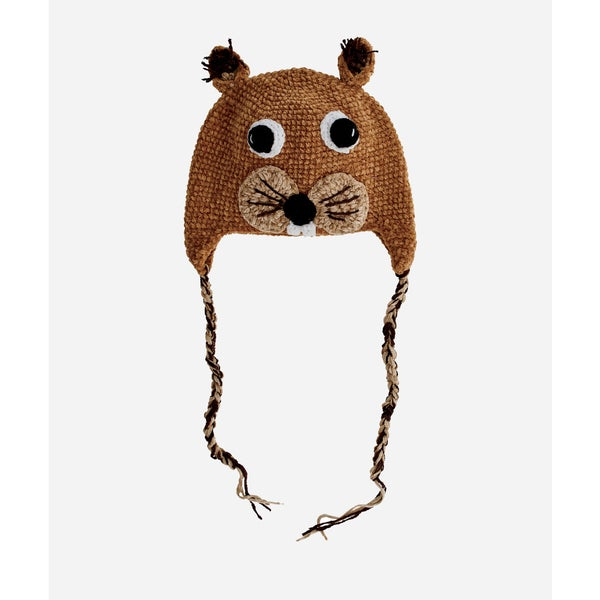 San Diego Hat Company 2-4 Toddler Crochet Squirrel-Squirrel
