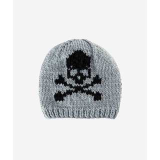 San Diego Hat Company 4-6 Kid Beanie With Skull Intarsia-Grey-Large