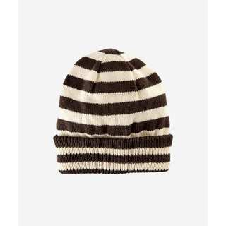 San Diego Hat Company 2-4 Toddler Fine Knit Stipe Beanie With A Cuff-Brown-Small