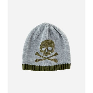 San Diego Hat Company 2-4 Toddler Knit Beanie With Skull-Grey-Small