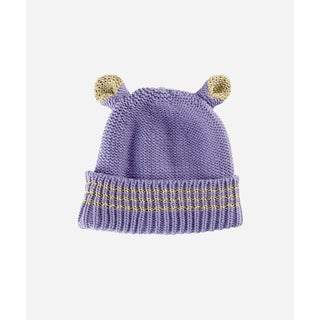 San Diego Hat Company 8-12 Youth Fine Knit Animal Ear Beanie-Lavender-Xlarge