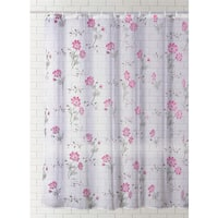J & M Home Fashions Printed Vinyl Shower Curtain -  Floral