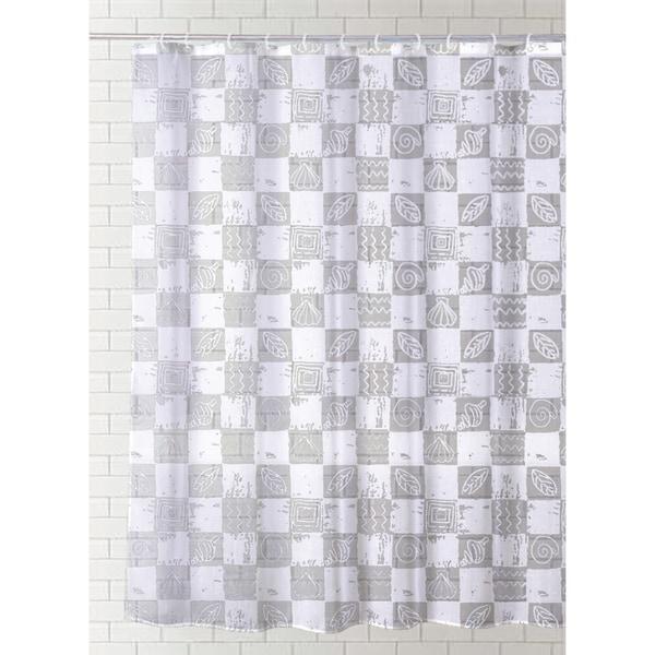 J Amp M Home Fashions Printed Vinyl Shower Curtain