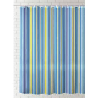 J & M Home Fashions Printed Vinyl Shower Curtain -  Exotic
