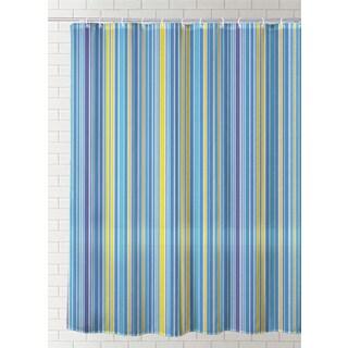 J & M Home Fashions Printed Vinyl Shower Curtain - Exotic
