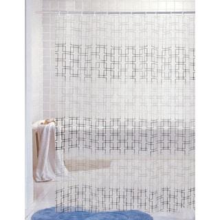 J & M Home Fashions Printed Vinyl Shower Curtain -  Graphics