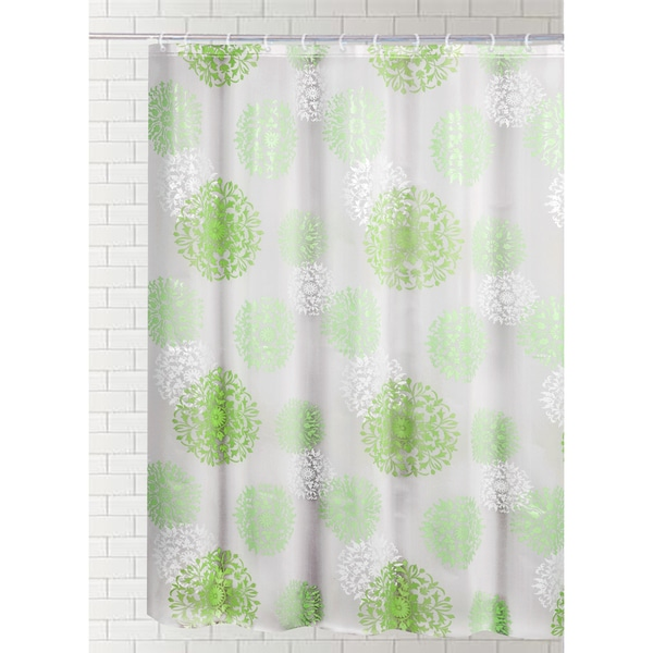 J Amp M Home Fashions Printed Vinyl Shower Curtain