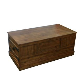 Chic Wooden Trunk - Benzara
