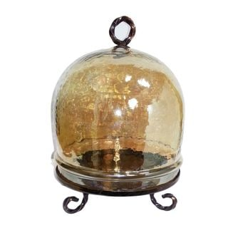 Gorgeous Glass Dome with Gold Luster - Benzara
