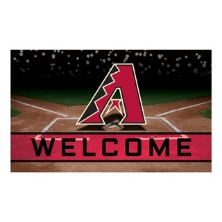 "MLB - Arizona Diamondbacks 18""x30"" Rubber Door Mat"