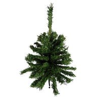 """Pack of 3 Traditional Green Artificial Mini Christmas Trees 18"""" - Unlit"""