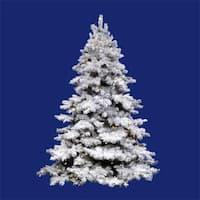 10' Pre-Lit Flocked Alaskan Full Artificial Christmas Tree - Clear Dura Lights