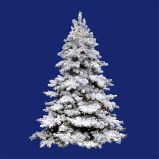 10' Pre-Lit Flocked Alaskan Full Artificial Christmas Tree - Clear Dura Lights