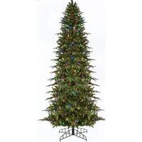 9' Pre-Lit Slim Palisade Artificial Christmas Tree - Multi LED Lights