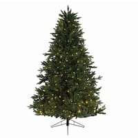 "9' x 72"" Pre-Lit Everlands Skandia Fir Artificial Christmas Tree - Warm Clear LED Lights"