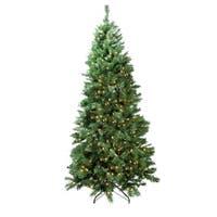7' Pre-Lit Single Plug Slim Glacier Pine Artificial Christmas Tree - Multi-Function LED Lights