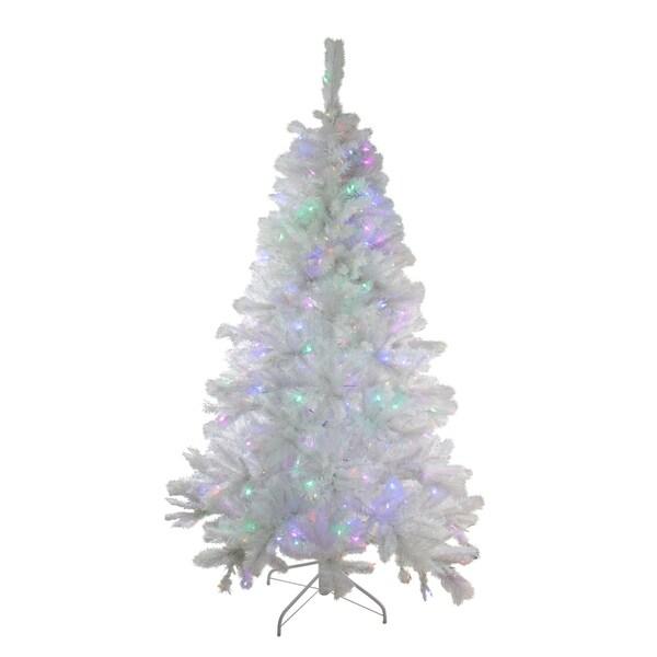 Lead Free Christmas Trees: Shop 7.5' Pre-Lit Single Plug Medium White Iridescent Pine