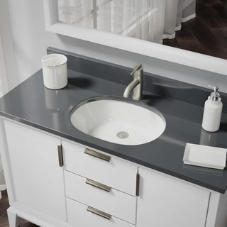 R2-1005-B Biscuit Oval Porcelain Bathroom Sink with Standard Pop-Up Drain