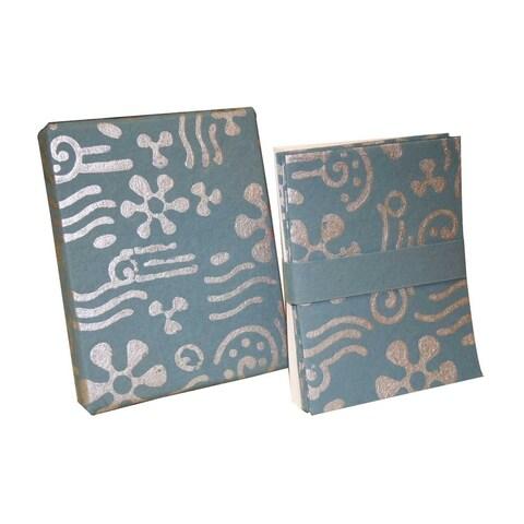 Handmade Boxed 8 Cards and Envelopes - Celebration Design (India)