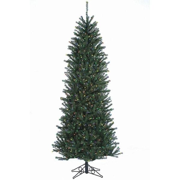 Discount Pre Lit 12 Christmas Tree: Shop 12' Slim Alexandria Pine Pre-Lit Artificial Christmas