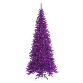 10' Pre-Lit Slim Purple Ashley Spruce Christmas Tree - Clear & Purple Lights
