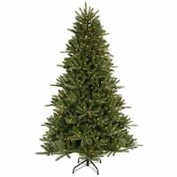 9.5' Pre-Lit Vermont Fir Instant Shape Artificial Christmas Tree - Clear Lights