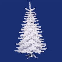 9' Pre-lit Crystal White Artificial Christmas Tree - Multi Lights