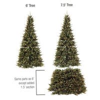 6' - 7.5' Pre-Lit Extend-A-Tree Artificial Christmas Tree - Clear Lights