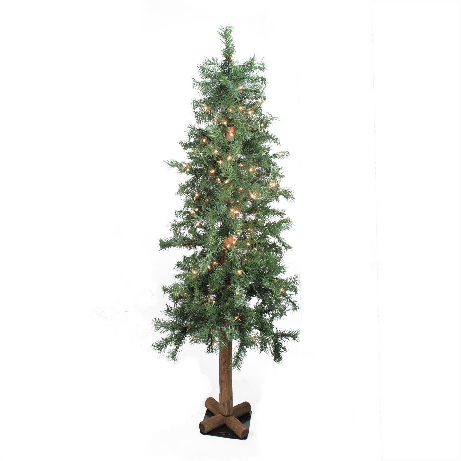 Allstate Floral & Craft 7' Pre-Lit Woodland Alpine Artifi...